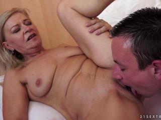 Hot Towheaded Grandma