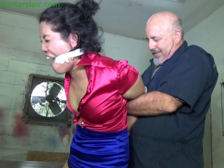Defiant Asian wench suffers in a brutal hogtie
