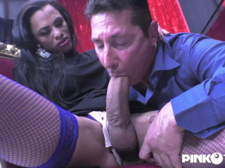 Sexy Tranny With Big Cock Fucks The Notary