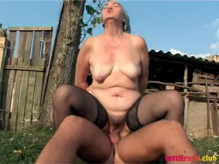 Kinky farmer matures playground's
