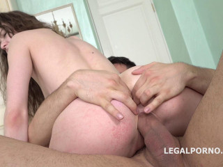 Double Cumshot anal casting, Sony Smile meets Oliver