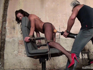 Adel Sunshine - Adel Bound To Chair and Machine-Fucked Hard 720p