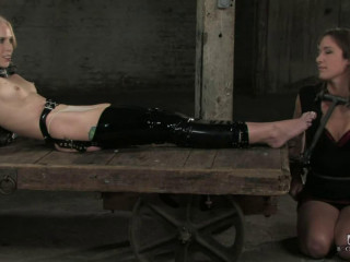 Hard bondage, torture, spanking and strappado for two hot models (Part 1)