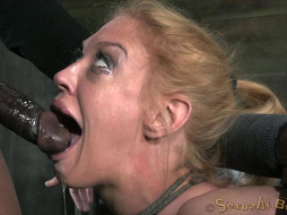 Big titted blond bimbo deepthroats  of cock , HD 720p