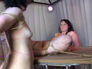 Minuit and Yvette, a girl-girl bondage session vol.4