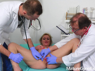 Lenny Sweet Blonde Milf anally examined and fucked by young medic