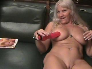 Blonde MILF on fake casting