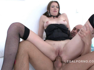 Nasty new slut in first  anal training