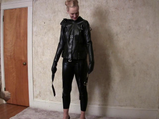 Ariel Anderssen in a Latex Straight-jacket