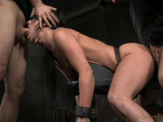 Jennifer Milky Chained Down And Toughly Plumbed With Fierce Oral jobs