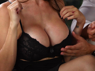He Can't Resist - Big-chested Cougar Enjoys Cum On Her Yam-sized Tits