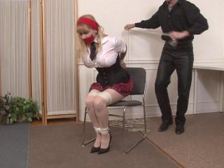 School Uniform Bondage Victim gets Tied Up Lorelei