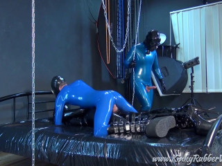 The 2 Blue Rubberguys Continue To Use Of Helpless Nelja - Full HD 1080p