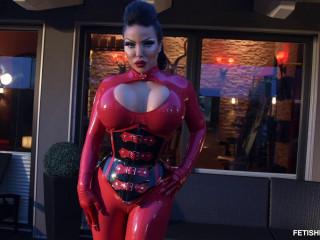 Glowing Red Style - Goddess Medusa - Full HD 1080p