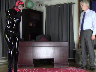 Black Latex Catsuit, Hood, and Ballet Boot Training for Ms Andrews