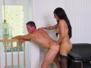 Cute TS Domino Presley Fucked For The Very First Time