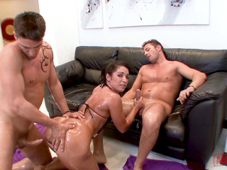 Monica Santiago - Gets Double Teamed HD