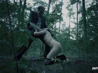 Khadisha Latina - Halloween Domination & submission story in the woods with German nubile Part 1