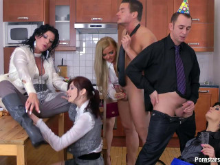 The Urinate And Jizm Surprise with Celine Noiret, Jenna Lovely, Kate Gold, Adel Sunshine