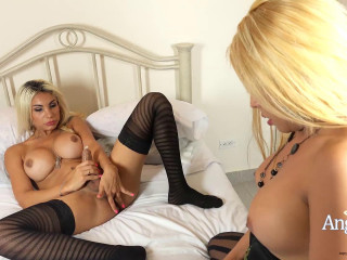 Double Cum With Beauty TS Blonds
