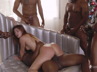 Leah Gotti - Her First Interracial Gang Bang FullHD 1080p
