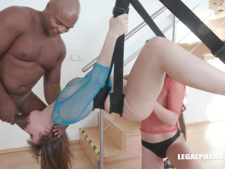 Dirty bitches gangbanged by black huge dicks