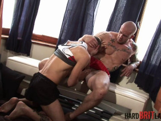 Rock-hard Brit Youngsters - Harley Everett smashes Leo Helios