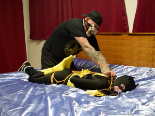 Simone Batgirl Strapped and Vibrated