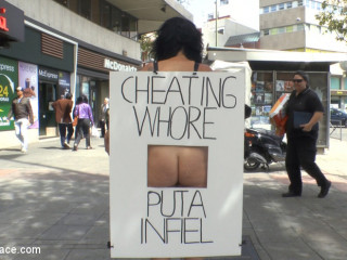 Hotwife Wife's Fat Hot Ass Shamed Totally Bare In Public Demonstrate