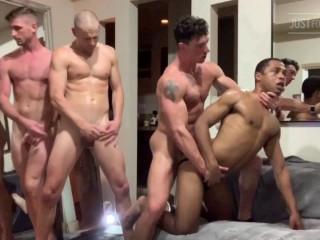 Epic 4 Way - Jared, Cade Maddox, Big C, & 19 Yr Old Amateur College Fuck