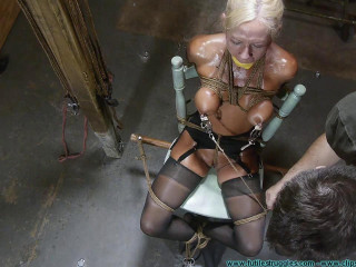 Thighs Spread Chair Tie for Amanda Fox 3 part - Extreme, Bondage, Caning