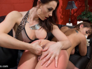 The Fan Girl: Lesbian slut bound, spanked, and strap-on fucked!
