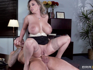 A Manager Is Highly Amazed With Her Hefty Tits