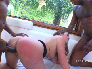 Sweetie Maddy O'Reilly bi-racial 3on1 anal invasion romp