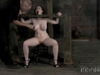 At first she's on her knees and romped and whipped