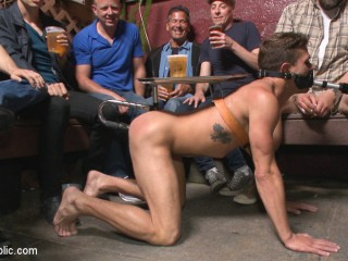 Go-go dancer serves his bar with mouth & ass for SF Pride