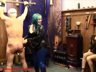 Amateur Couple FemDom Lessons - Chastity CBT Threesome