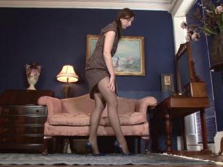 Lara Spandex - Parading in stockings