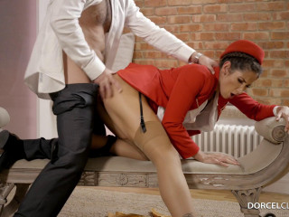 Clea Gaultier - The stewardess fantasy