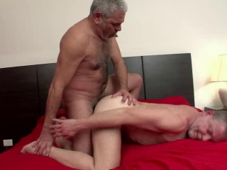 Older4Me - Two Daddies And Their First Fuck