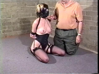 Angel in restrain bondage