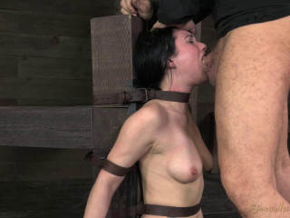 Pretty Veruca James utterly destroyed by brutal deep throat!