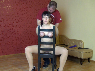 Cable Ties, Chair, Tits - HD720p