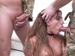 Silvia Dellai anal gangbang with DP