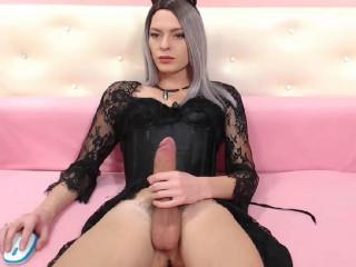Russian Crossdresser Huge Cock