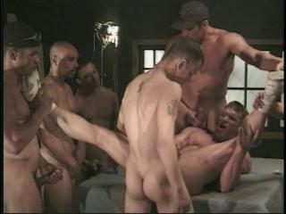Caesar's Gang Bang With Muscle Males
