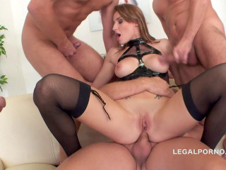 Victoria Daniels group-fucked by rigid spunk-pumps with 17 pop-shots