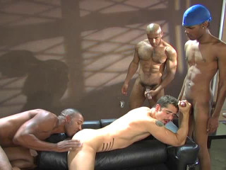 Sexy Black Fuckers In Orgy