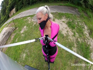 Extreme Bondage Orgasm as Sandra is Bound To, not in, a Van and Taken for a Ride!