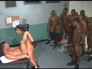 Sexy Black Fuckers In Prison Gangbang